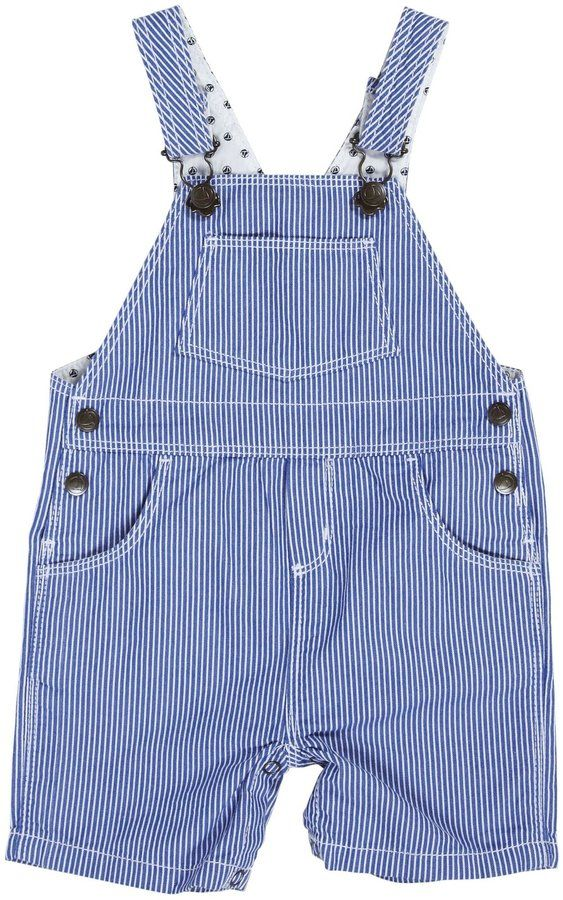 09b4ad33e3f2 Petit Bateau  Forcing  Striped Overalls (Baby) - Blue White-3 Months ...