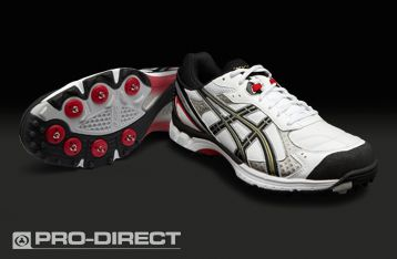 Asics Gel-200 Not Out - Mens Cricket Shoes - White-Black-Gold