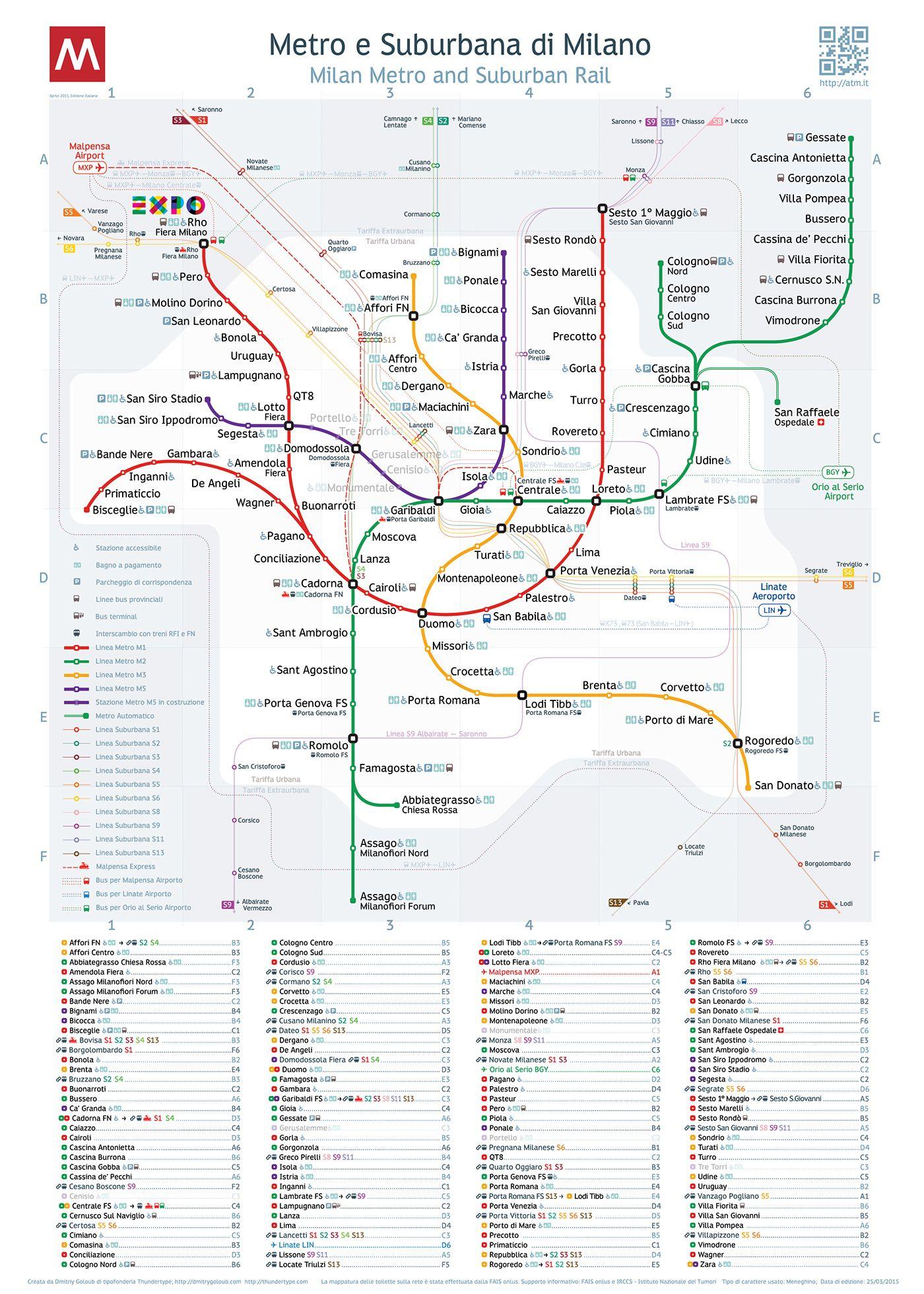 Milan Metro Map On Behance Graphics And Type Pinterest Milan