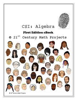 CSI: Algebra 1 Curriculum BUNDLE -- 9 Crime Scene Investigations #mathintherealworld