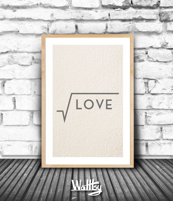 LOVE INSPIRATIONAL POSTER Smart Minimalist Printable by Walltsy
