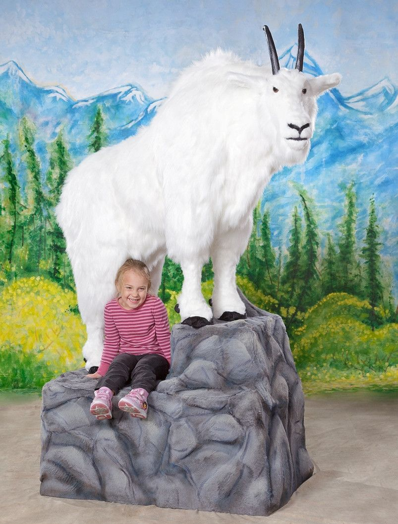 """""""Bill"""" Mountain Goat with Base Giant stuffed animals"""