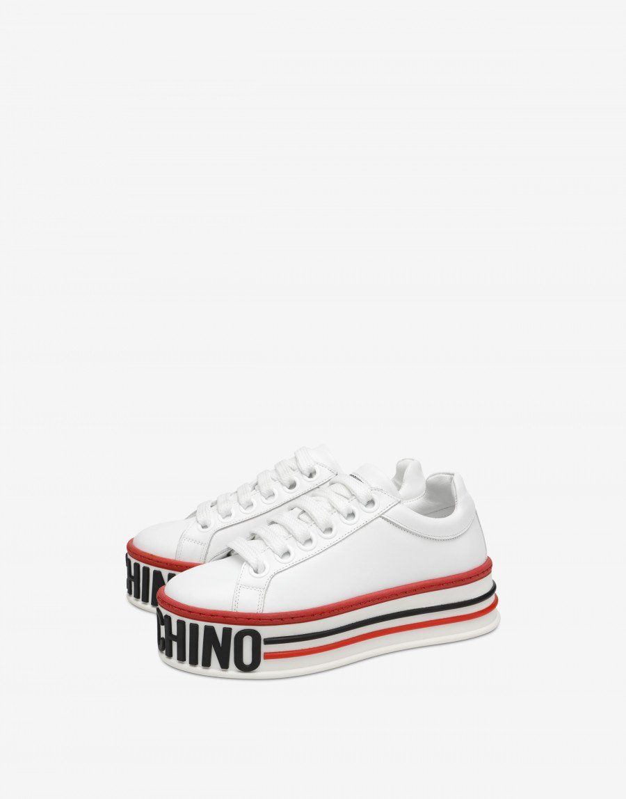 Platform sneakers - SS19 Shoes - SS19 COLLECTION - Moods - Moschino ... 72a4fd1bed3