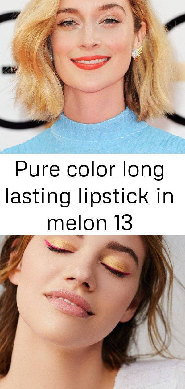 Pure color long lasting lipstick in melon 13 #passiontwistshairstylelong Orange Lipstick: Better Than Red?+#refinery29 Anastasia Beverly Hills Riviera Eyeshadow Palette   Urban Outfitters Why Passion Twist Hairstyles Are Trending For Spring 2019 (And Beyond) #passiontwistshairstylelong