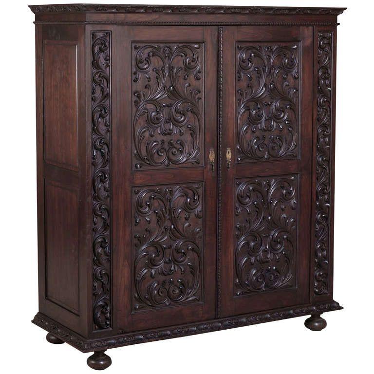 Antique Portuguese Baroque Armoire. Modern WardrobeArmoire ...