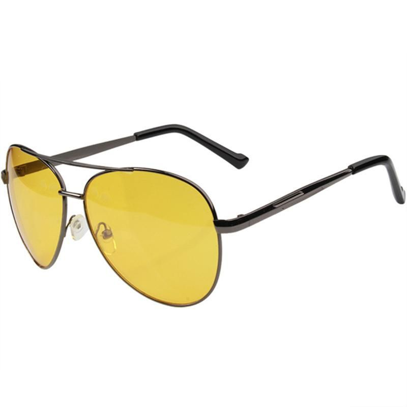 1b4ceb62e91 UVLAIK Aviation Night Vision Glasses Men Driving Yellow Lens Sunglasses  Classic Anti Glare Vision Driver Safety