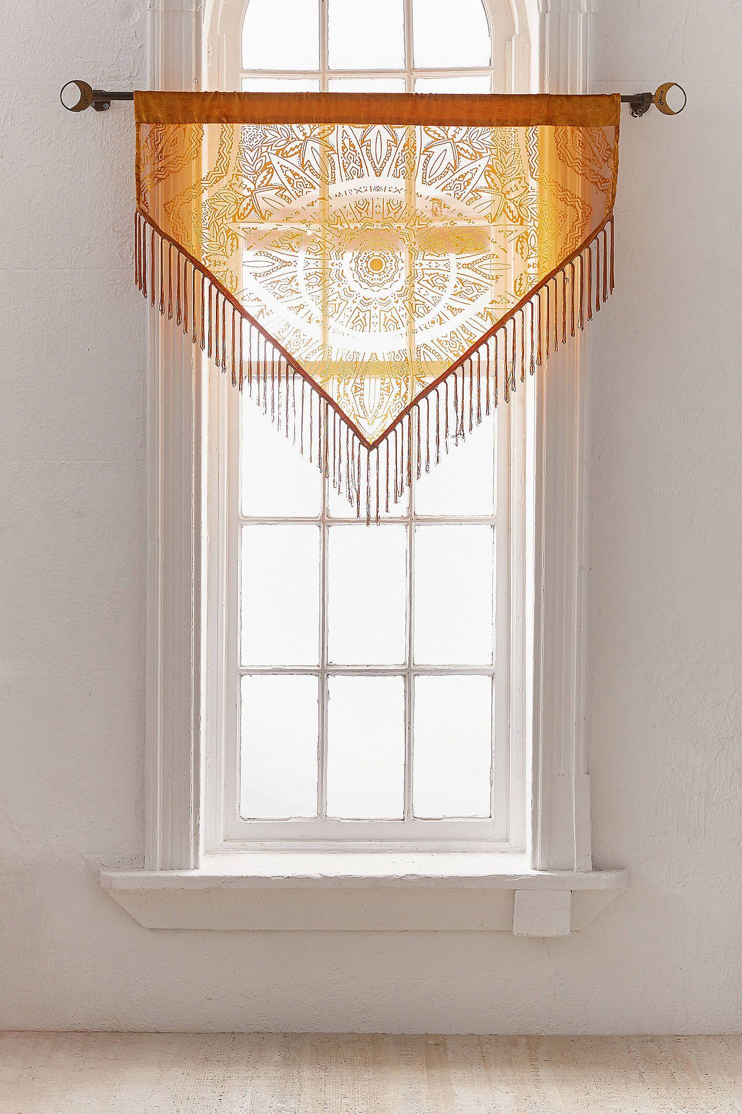 Fensterbehang aus Samt mit Burnout-Augendesign | Valance, Window and ...