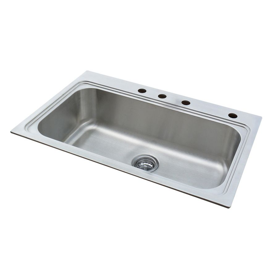 Shop American Standard 22-in x 33-in Silver Single-Basin Stainless ...