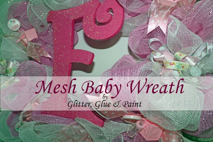 ... is for a Baby Wreath, but it's a great tutorial for a mesh wreath