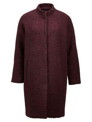 Fun burgundy coat | Selected Femme