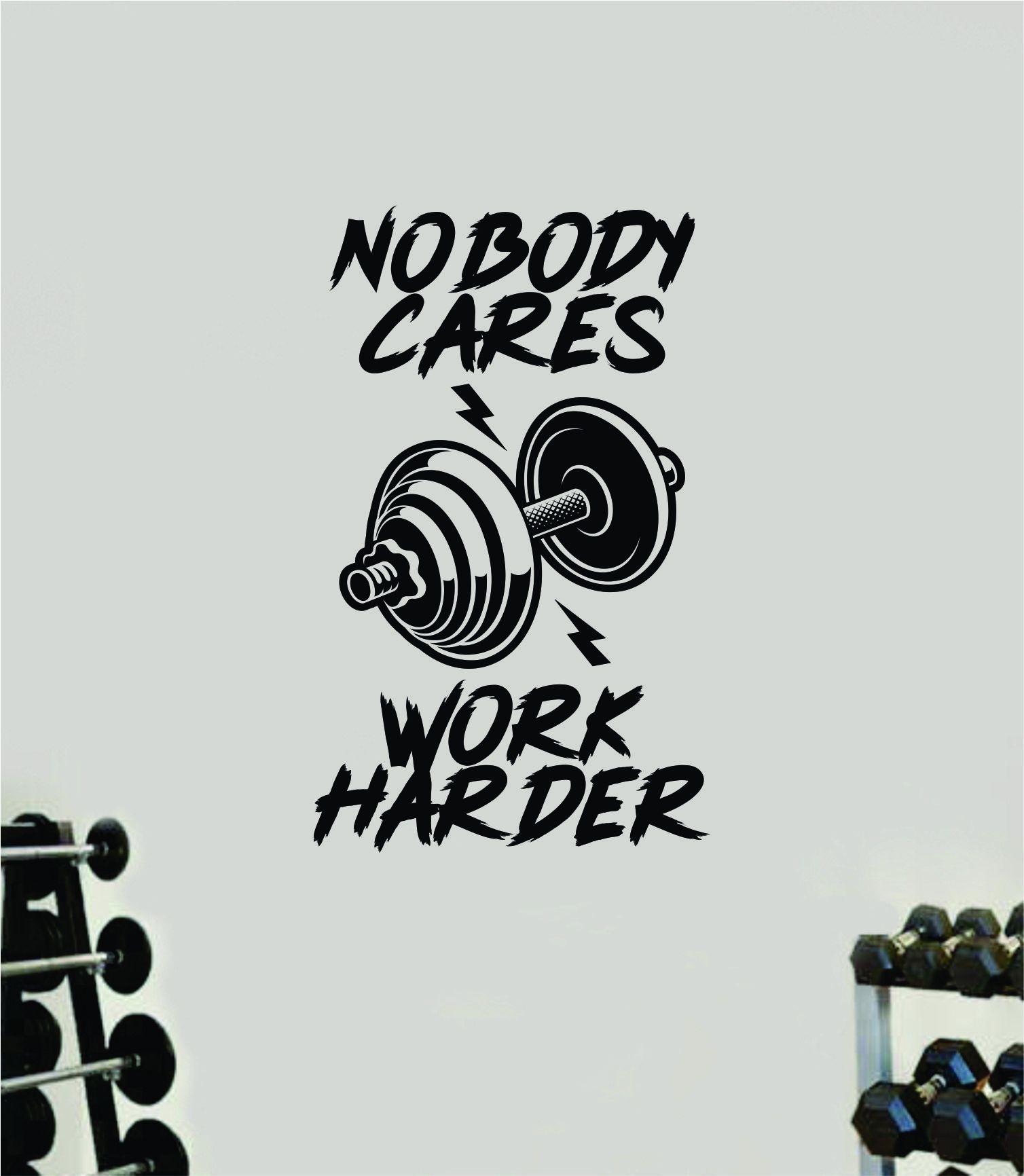 Photo of Niemand kümmert sich um Arbeit härter V11 Aufkleber Aufkleber Wand Vinyl Kunst Wand Schlafzimmer Zimmer Dekor motivierend inspirierend Teen Sport Gym Fitness Übung Gesundheit Mädchen Kniebeugen – grün