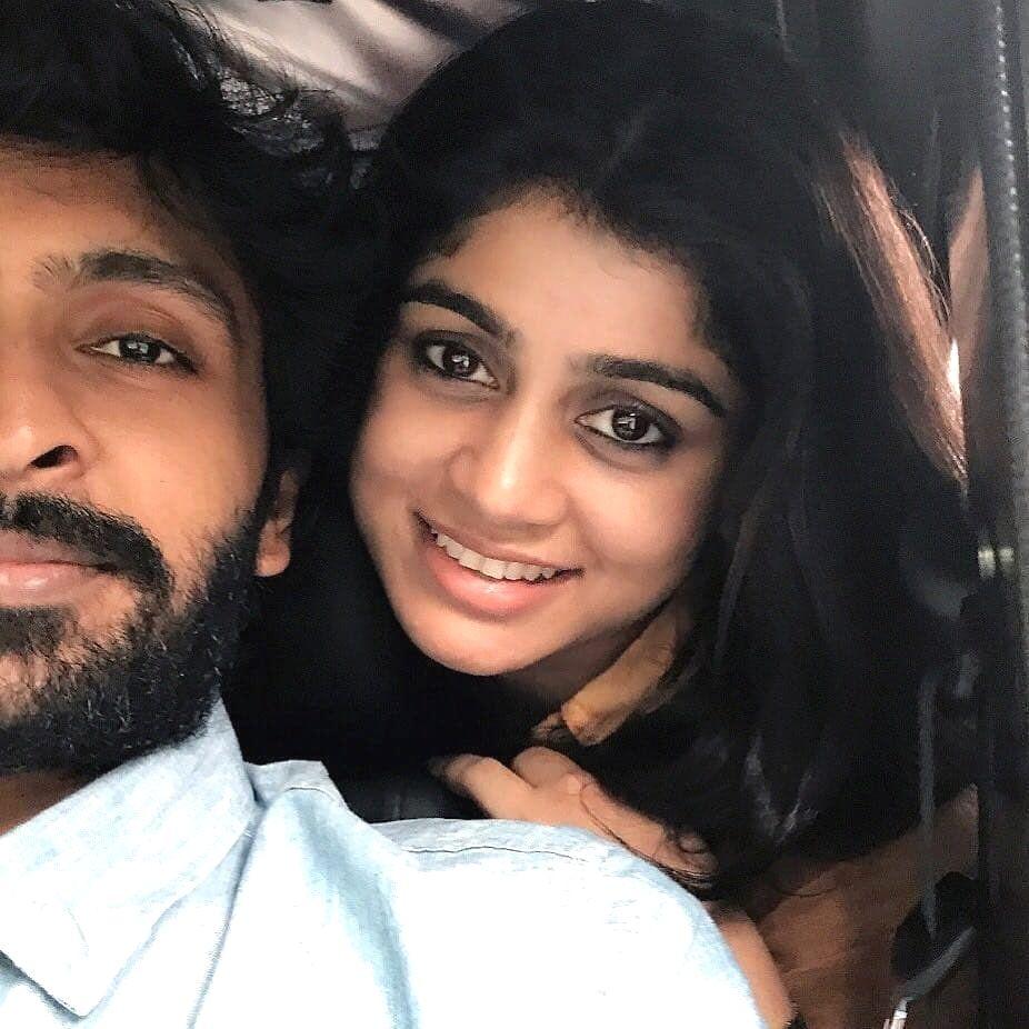 Vikram prabhu with his wife 😍   Vikram prabhu, Tamil ...