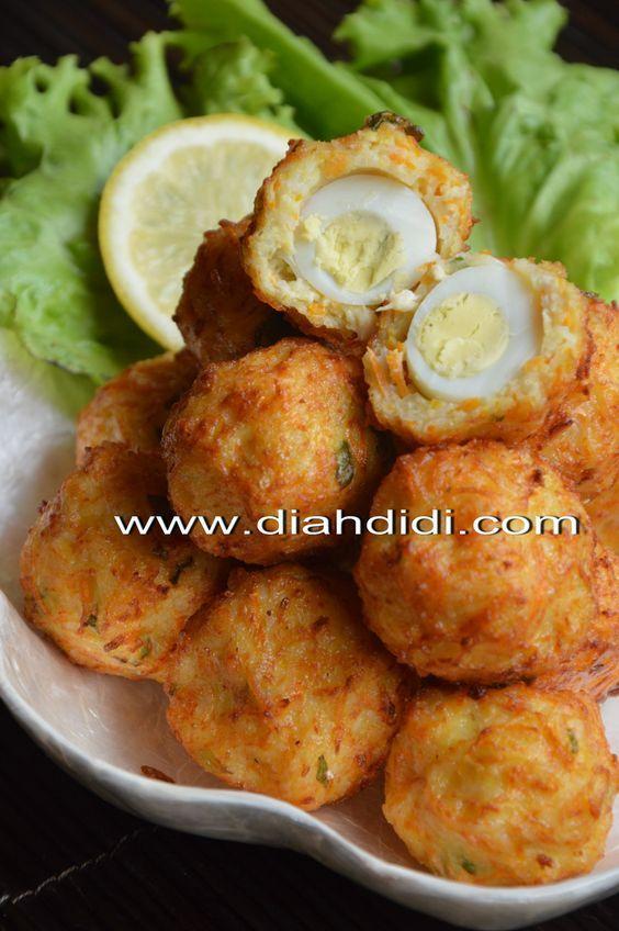 Diah Didi S Kitchen Bakso Goreng Ayam Dan Bihun Isi Telur Puyuh Resep Masakan Cina Resep Makanan Resep Makanan Cina