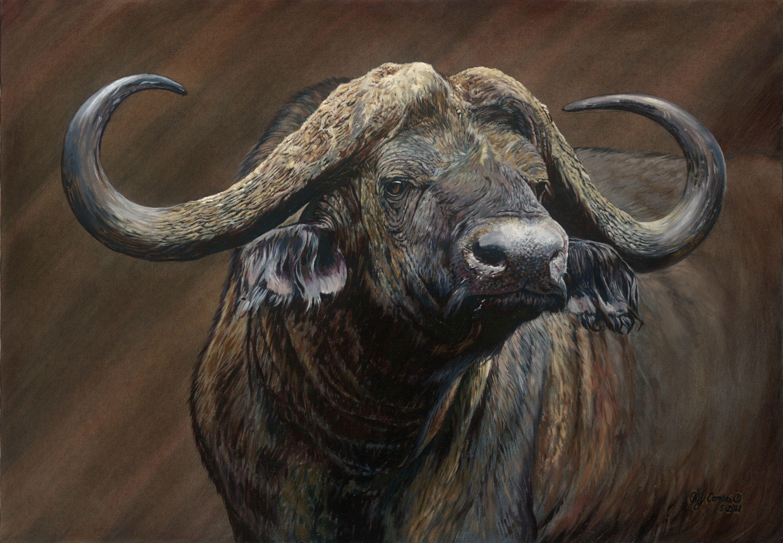 Mister Sinister - Oil Canvas Guy Combes Combs Artist Animales Bovinos Pinturas De
