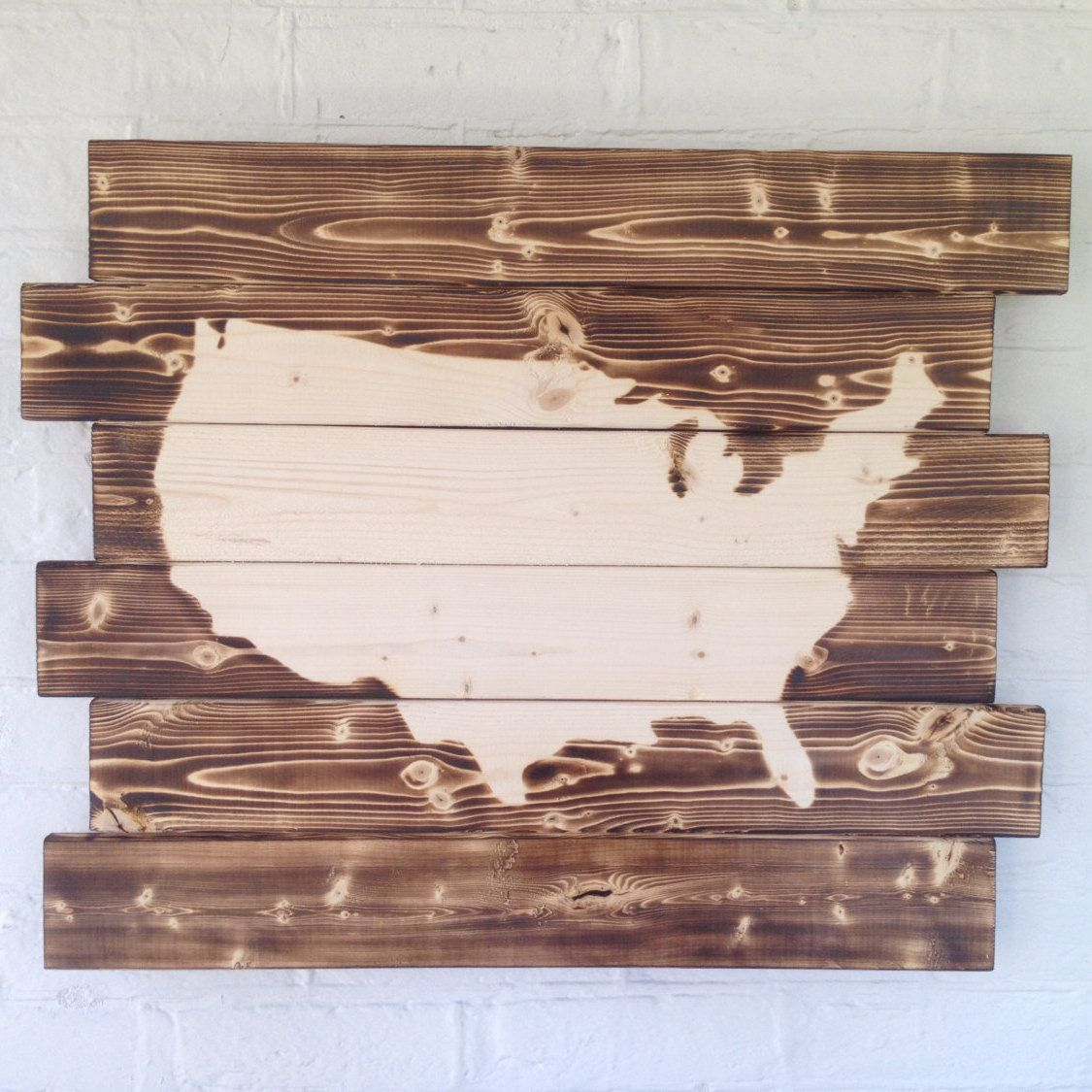 United states of america wood sign home decor wall decor man cave