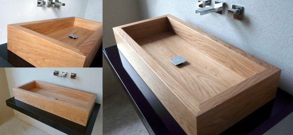 LAVABO BAGNO WOODWASH | AF - Lavabo moderno per il bagno in legno ...