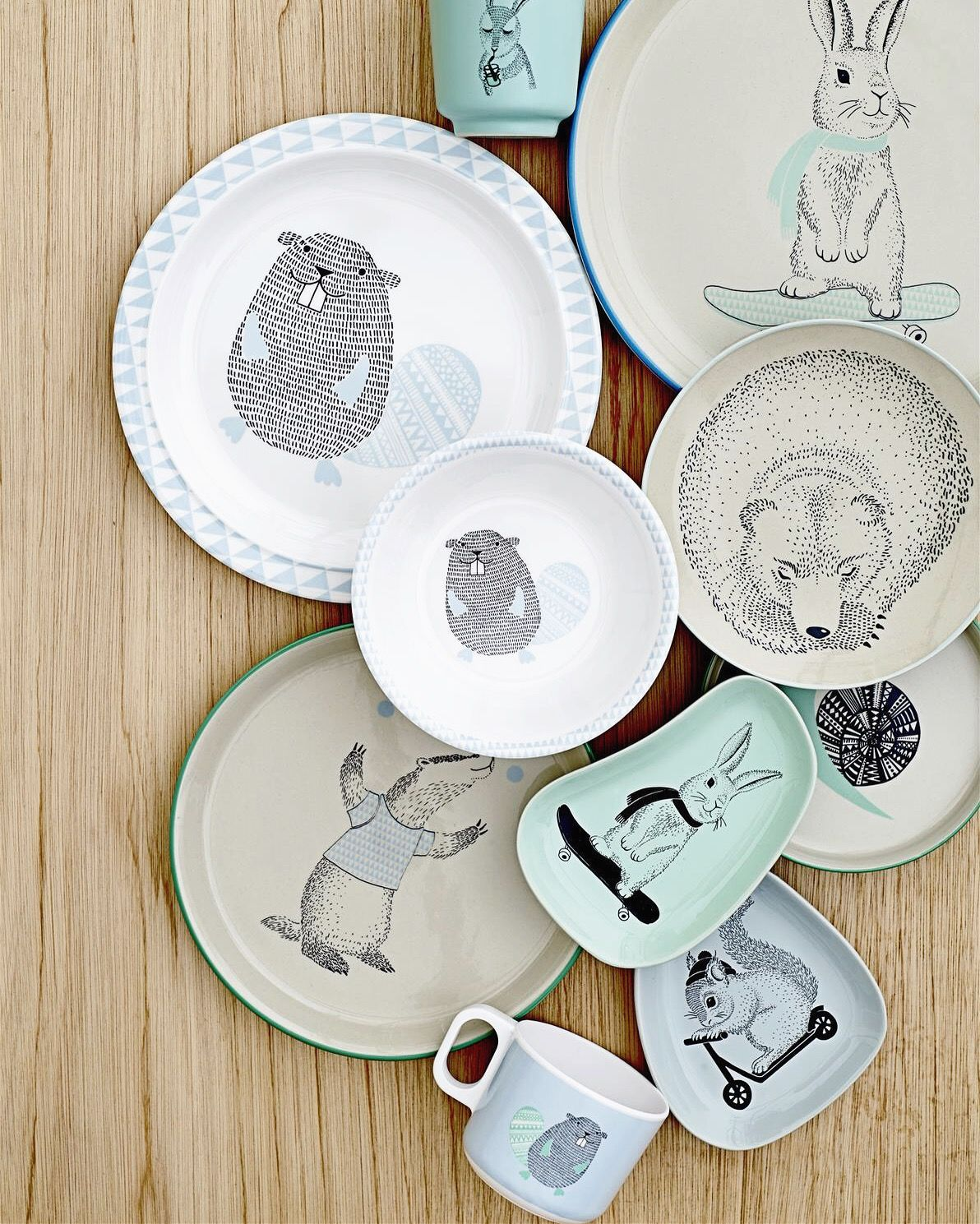 Bowls And Plates For Kids From Danish Brand Bloomingville Kids Tableware Pottery Kids Room