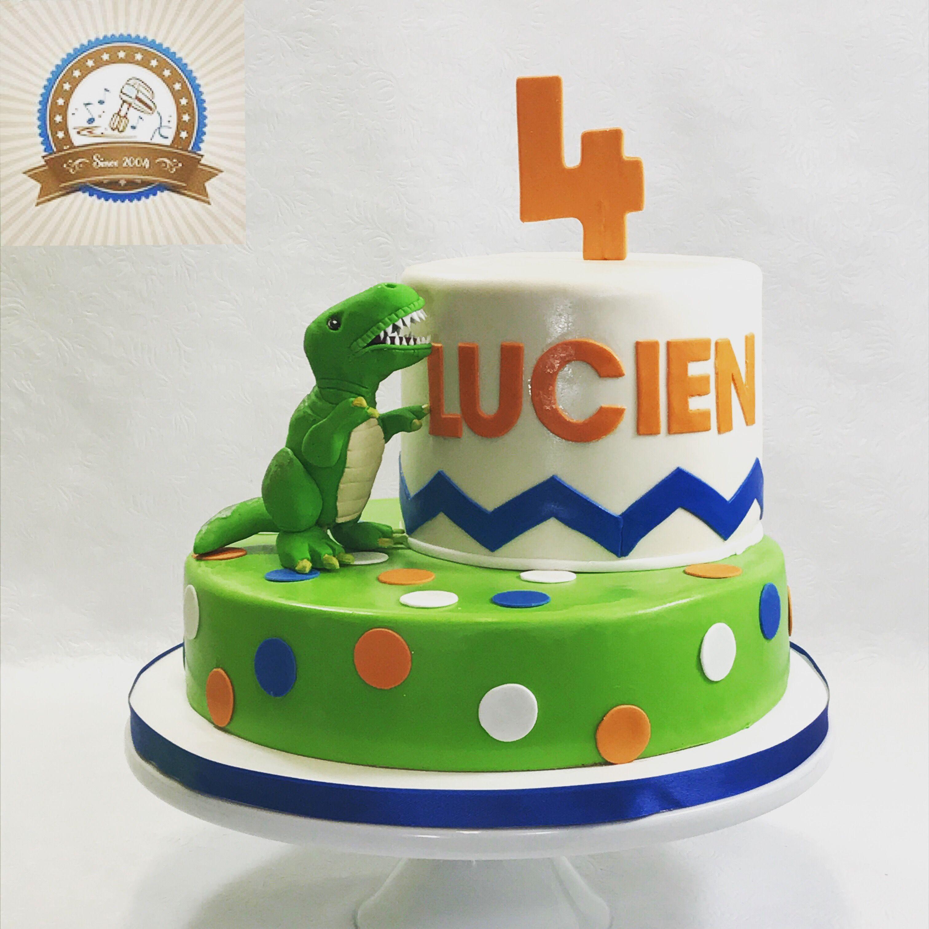 T Rex 4th Birthday Cake