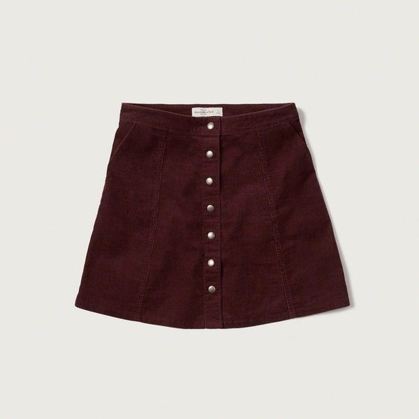 Abercrombie & Fitch Corduroy A-Line Skirt ($44) ❤ liked on ...