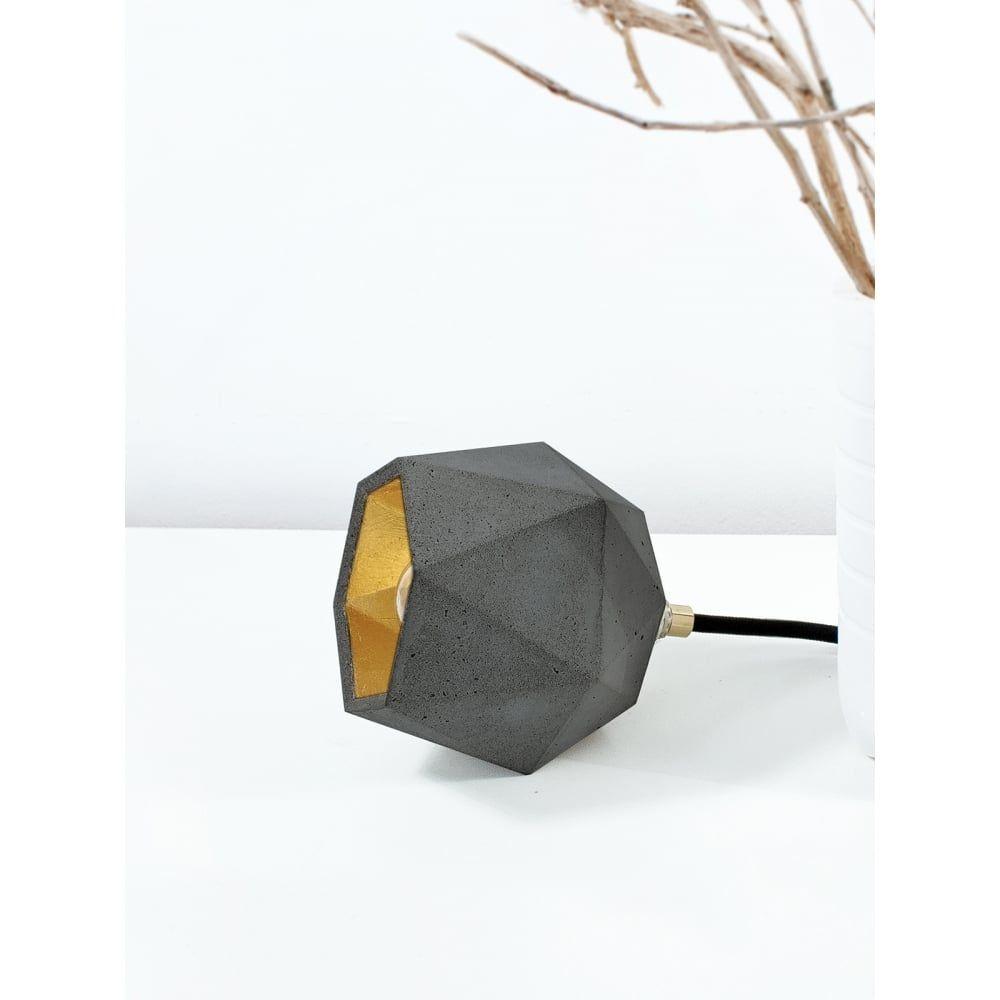 gant lights dark grey concrete & gold diamond floor spotlight