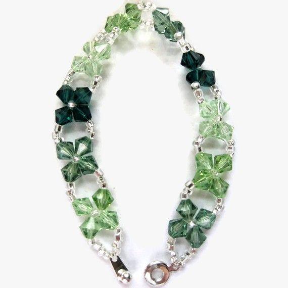 Swarovski crystal clover bead bracelet