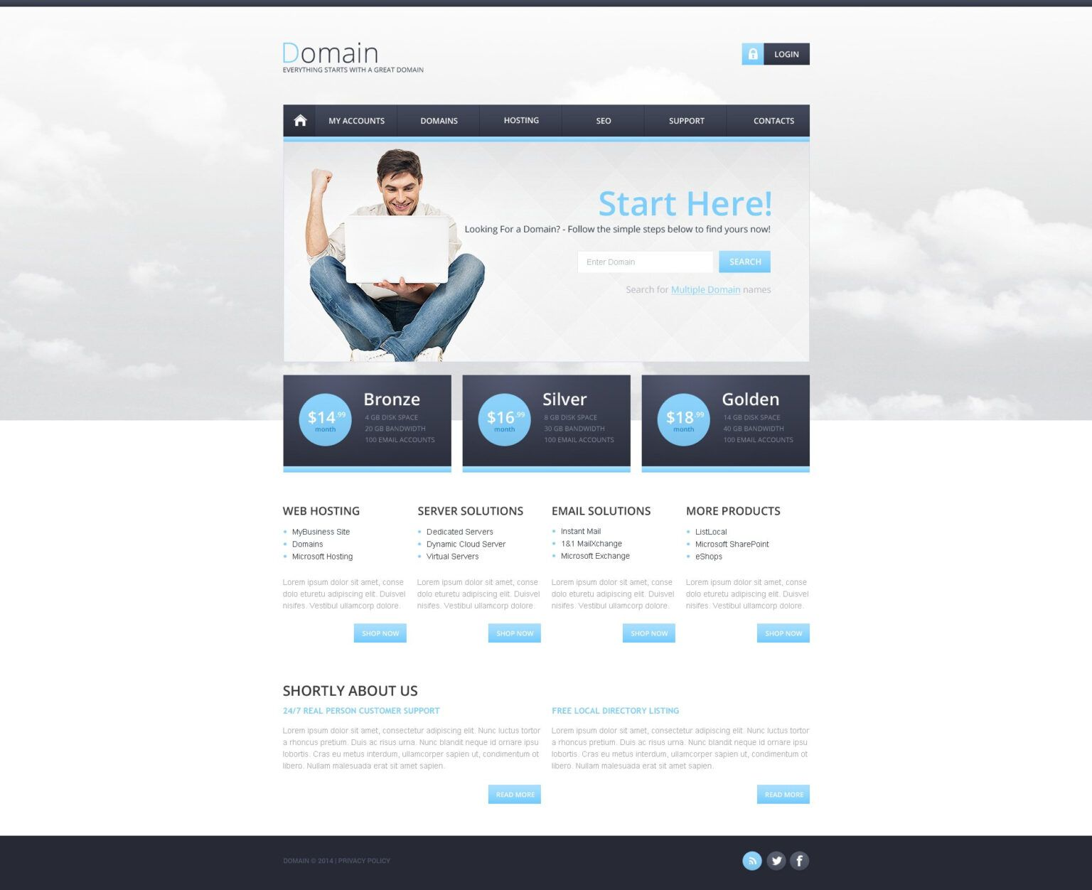 Hosting Responsive Website Template With Reporting Website Templates In 2020 Responsive Website Template Website Template Professional Templates