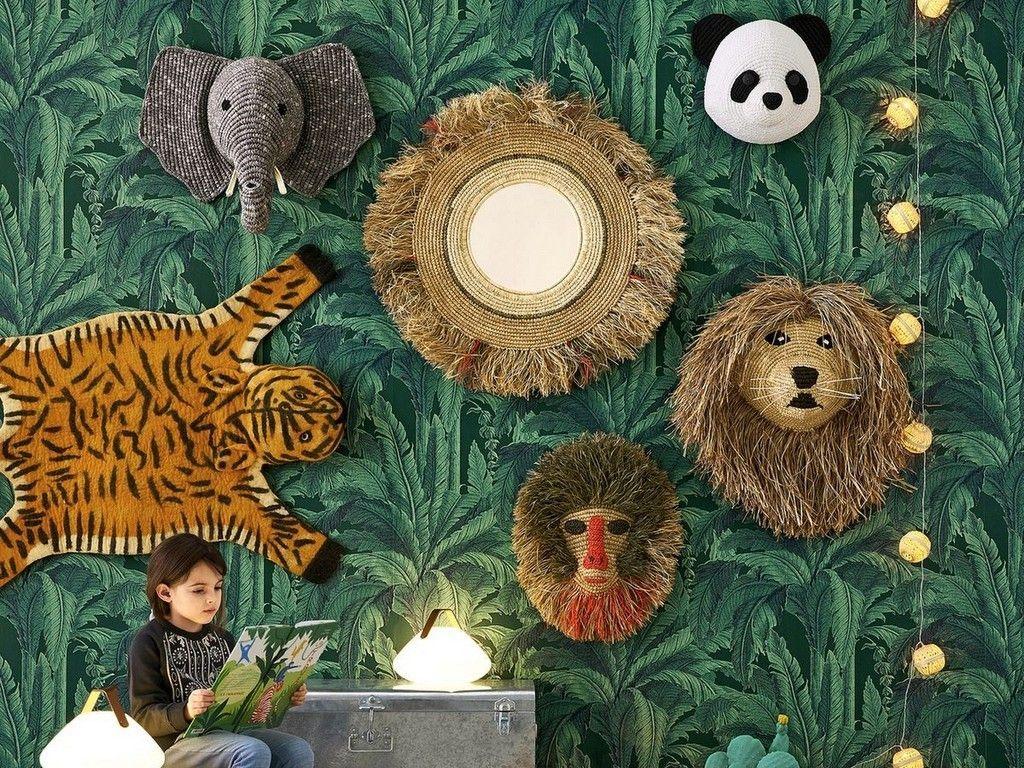 La savane envahit la chambre des enfants -  Chambre jungle, Idee