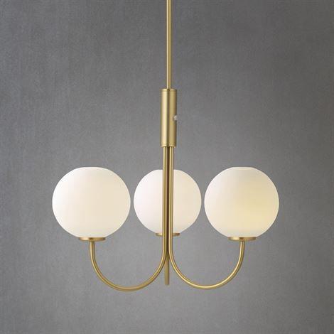 Ballon taklampa mässing LED Taklampor Herstal