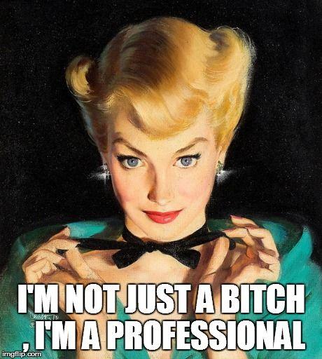 I'm not just a bitch , I'm a professional