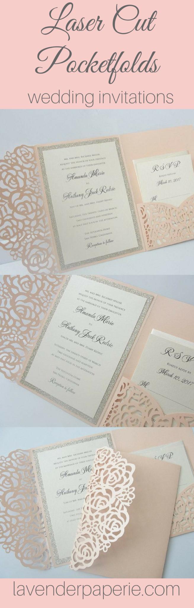 SHAY 8.00 Wedding invitations romantic, Acrylic