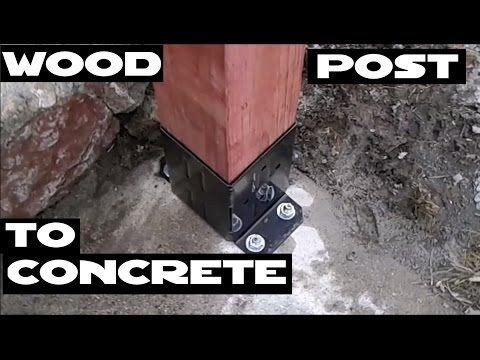Best How To Attach Wood Posts Railing To Concrete With 400 x 300