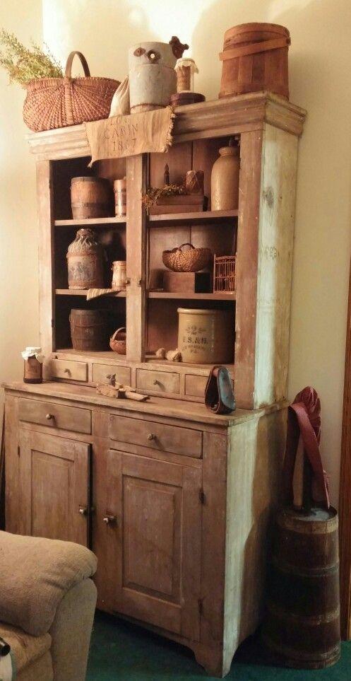 Primitive stepback cupboard - Primitive Stepback Cupboard Primitives Pinterest Cupboard