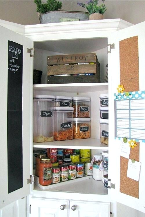 How To Organize An Upper Corner Cabinet Google Search Kitchen Pantry Cupboard Corner Pantry Cabinet Kitchen Organization Pantry