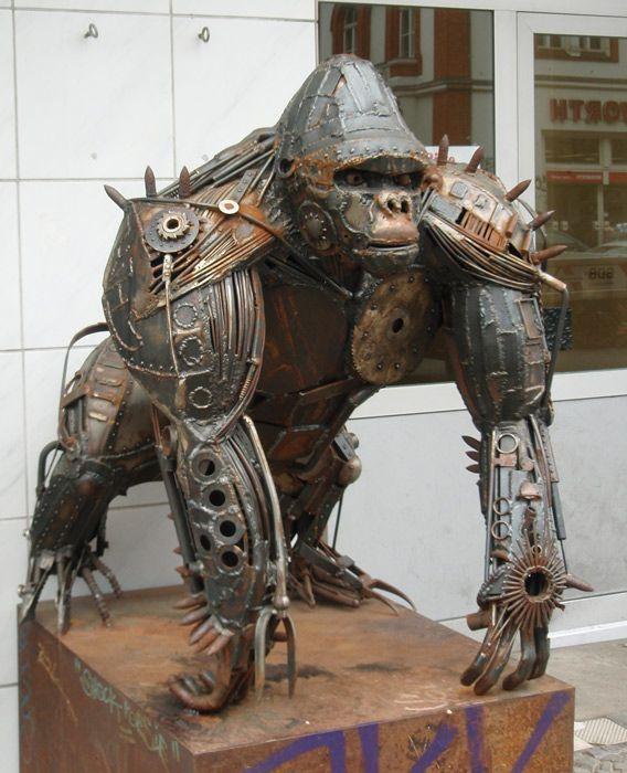 In berlin details pinterest metals welding shop and welded art - Sculpture metal jardin ...