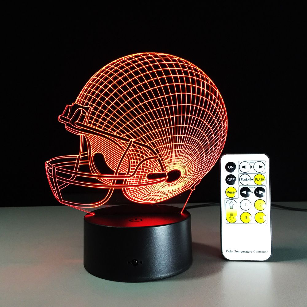 New Year 2017 Cleveland Browns Colorful 3d Decor Light Led Nfl Football Caps Led Lighting Gadget Color Change Table Lamp With Images Night Light Led Night Light Led Lights