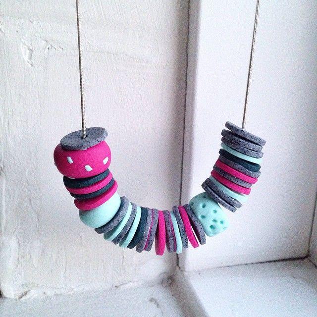 P O L L Y || B E A D S || on a silver plated chain  #diy #jewellery #handmade  #style #design #minimal #craftsposure #nothingisordinary #accessories #etsy #etsyhunter #makersmovement #vauxst #ourbestfinds #wemakecollective #handsandhustle #makersvillage #smallbusinesslove #cylcollective #thatsdarling #shopmadeit #tkjcfeatures #polymerclay #clay #fimo #jewelry #necklace