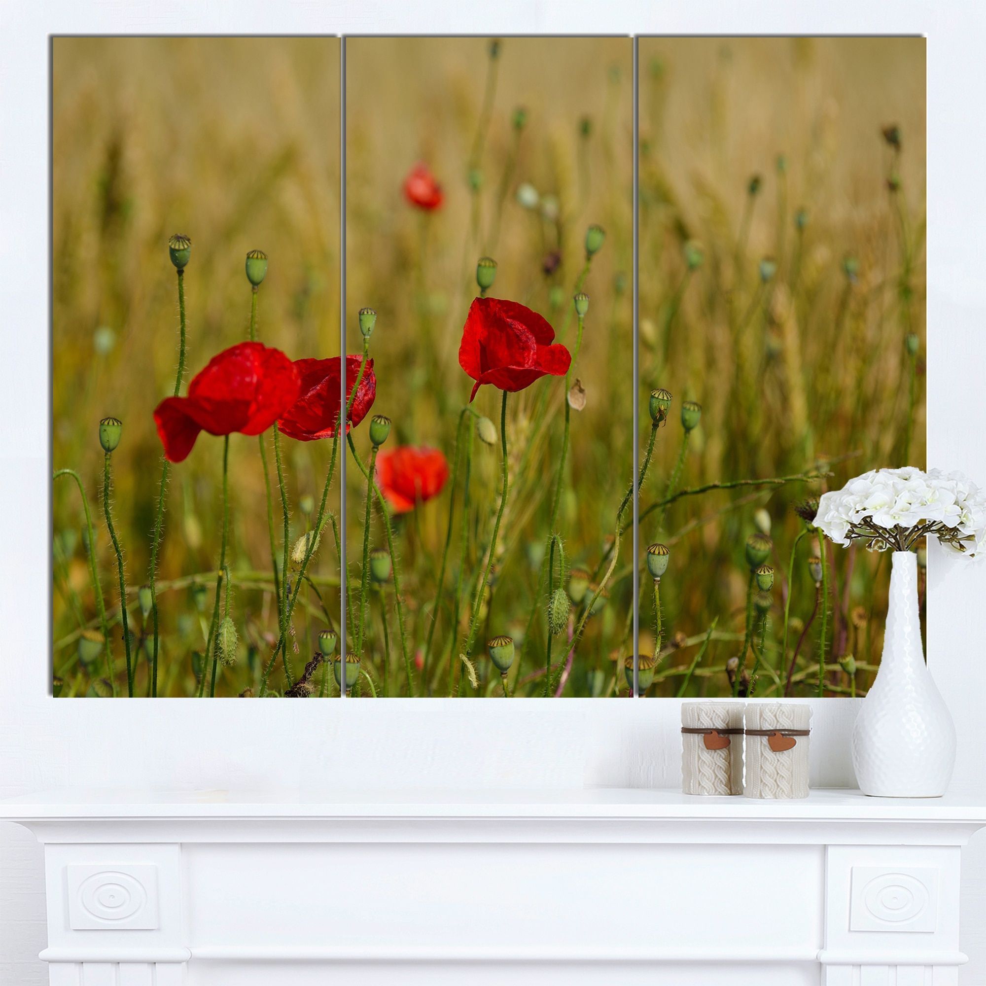 Fantastic Red Floral Wall Art Ideas - Art & Wall Decor - hecatalog.info