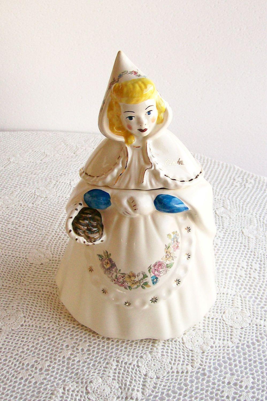Disney Cookie Jar Etsy >> Vintage Cookie Jar Cinderella Lady Of Mystery Regal China Ceramic