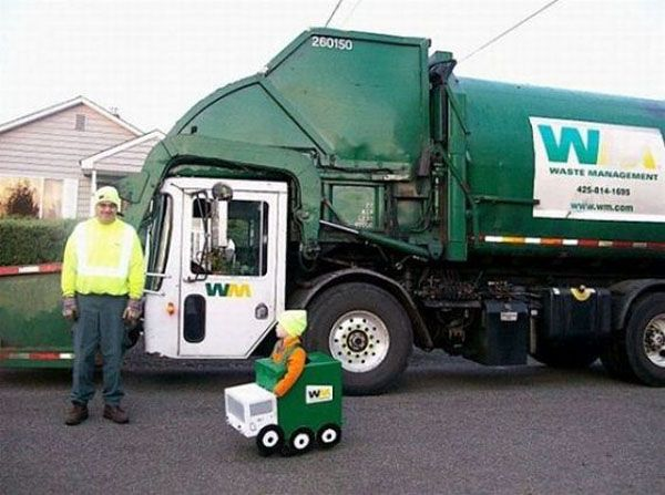 Like Father Like Son Waste Management Truck Garbage Truck With