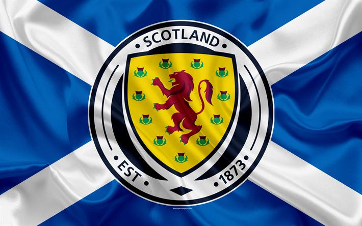 Download Wallpapers Scotland National Football Team Emblem Logo Flag Europe Flag Of Scotland Football World Cup Besthqwallpapers Com National Football Teams Team Wallpaper Flag Of Scotland