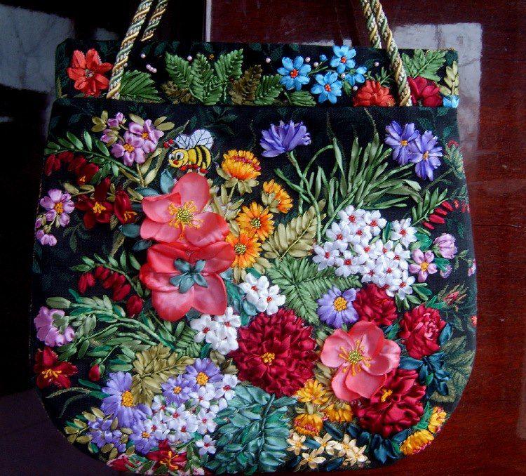 Bolso4 | Тканевые цветы, Сумки, Сумки-клатчи