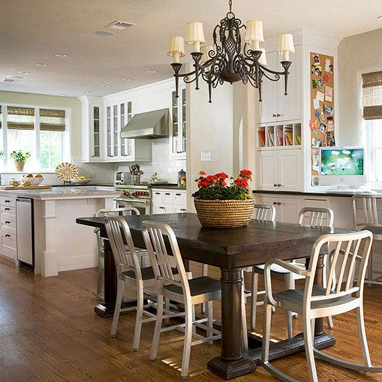 Must See Eat In Kitchens Home Kitchens Eat In Kitchen Family Friendly Living Room