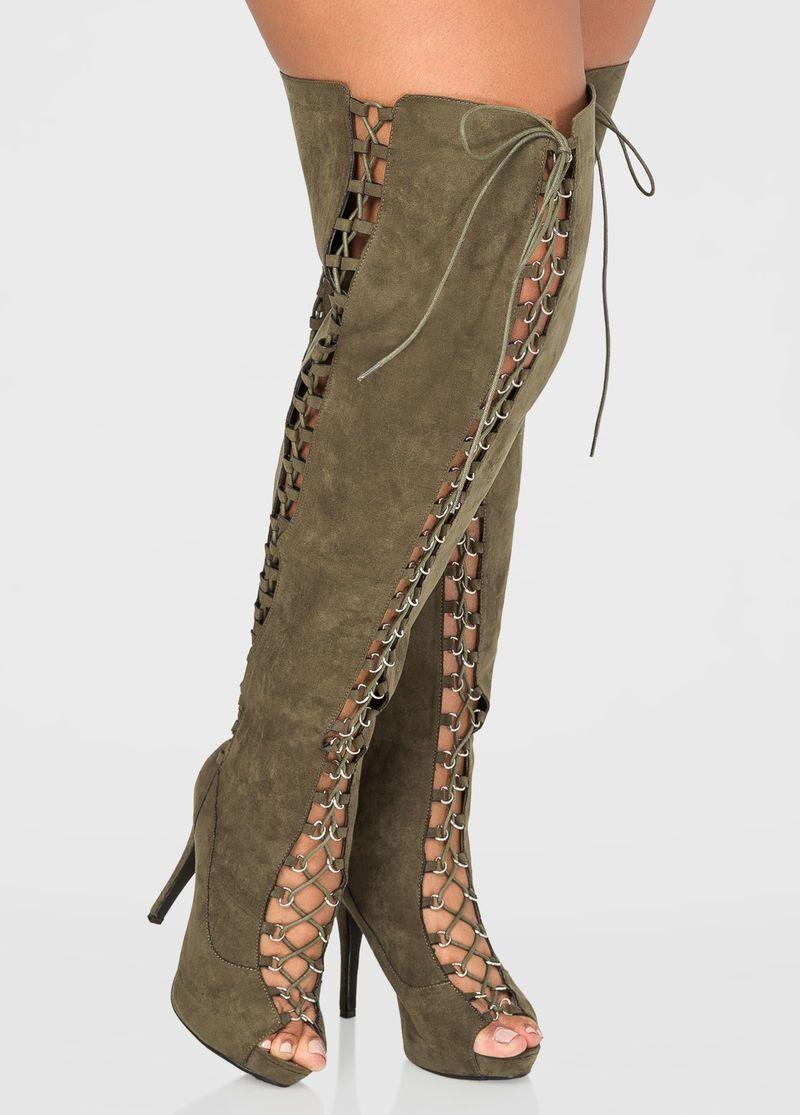 2bead8077e94 Thigh High Open Toe Boot - Wide Calf, Wide Width in 2019 | SHOE LOVE ...