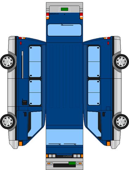 현대 올드그레이스 네이버 블로그 2020 페이퍼 토이 자동차 종이접기