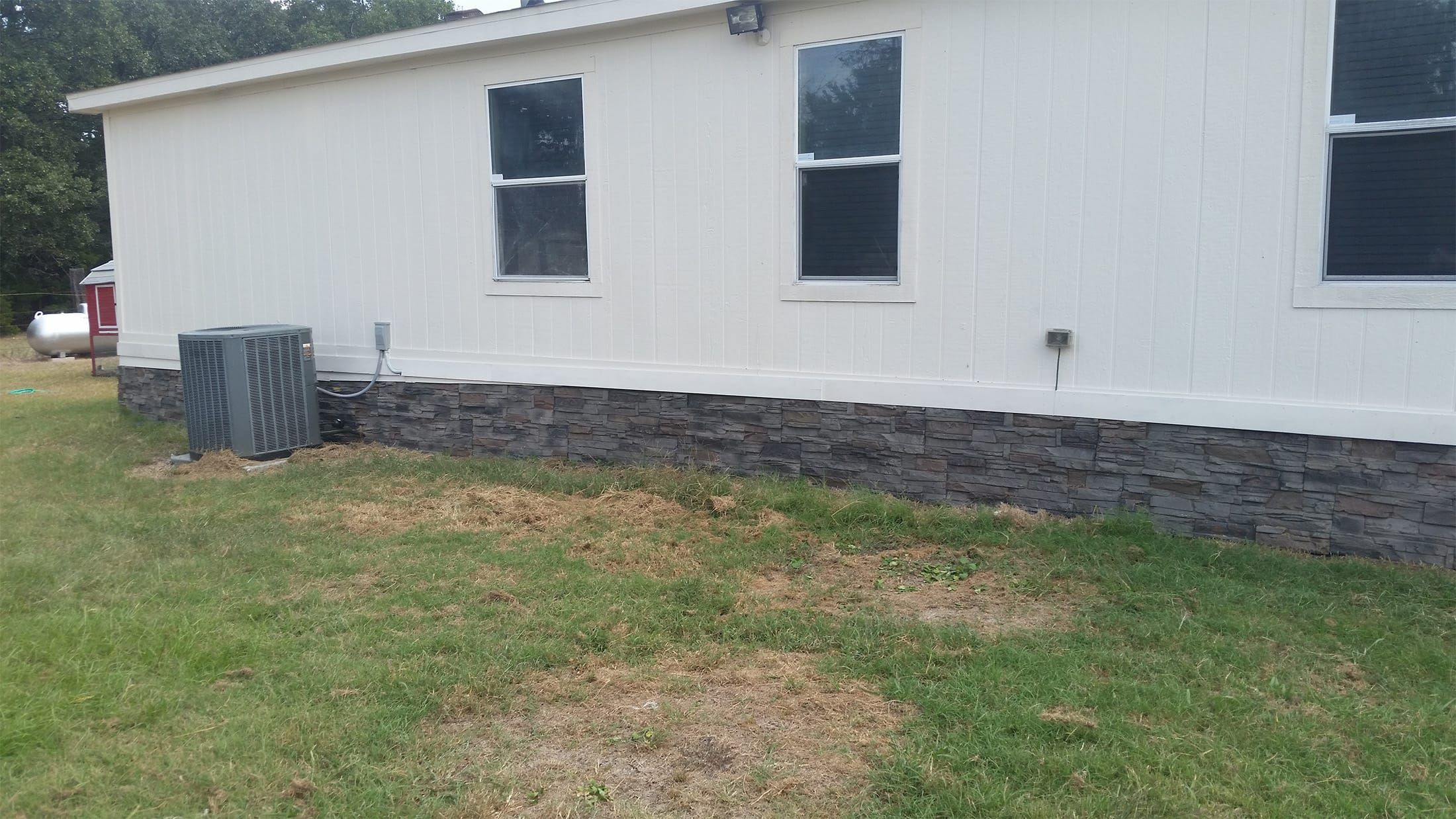 Faux Stone Skirting For Mobile Homes By Les In 2019 Mobile