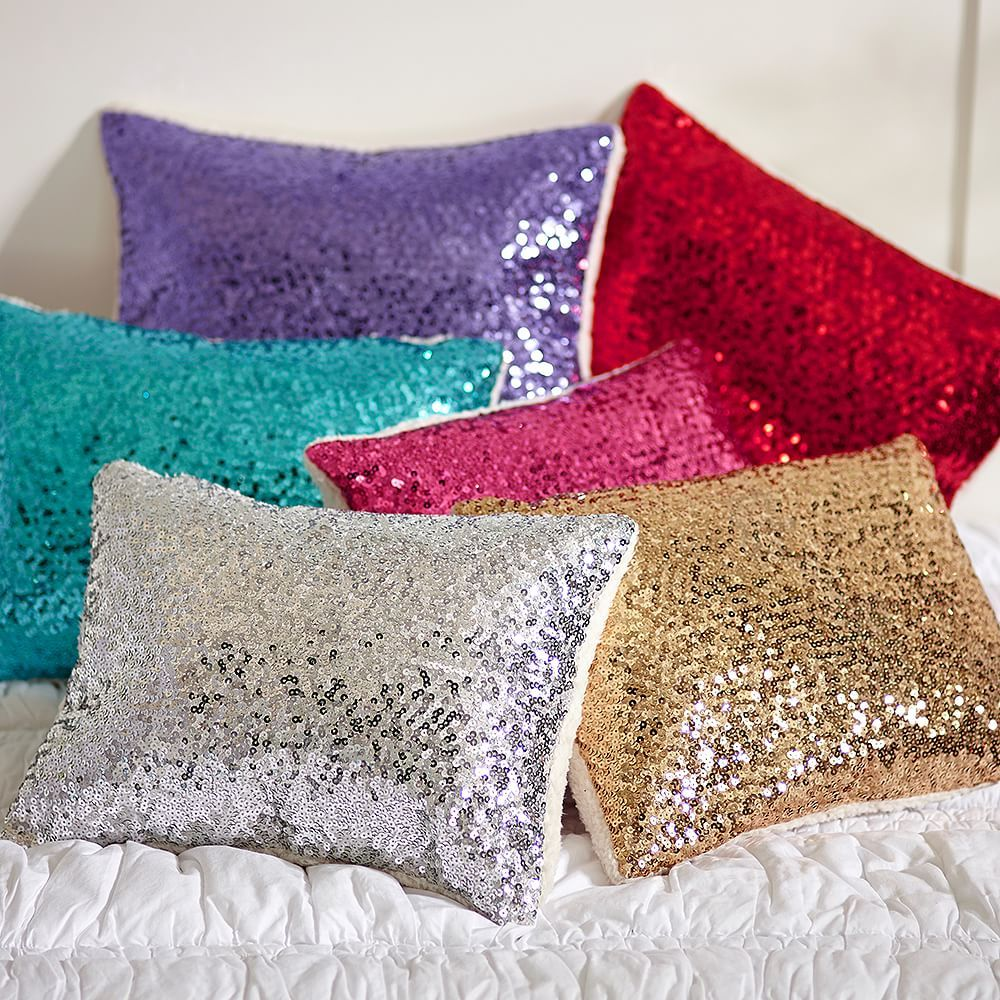 Throw Pillows Primark : Sparkle Sequin Pillow Cover PBteen Bedroom Inspiration Pinterest Products, Sequin pillow ...