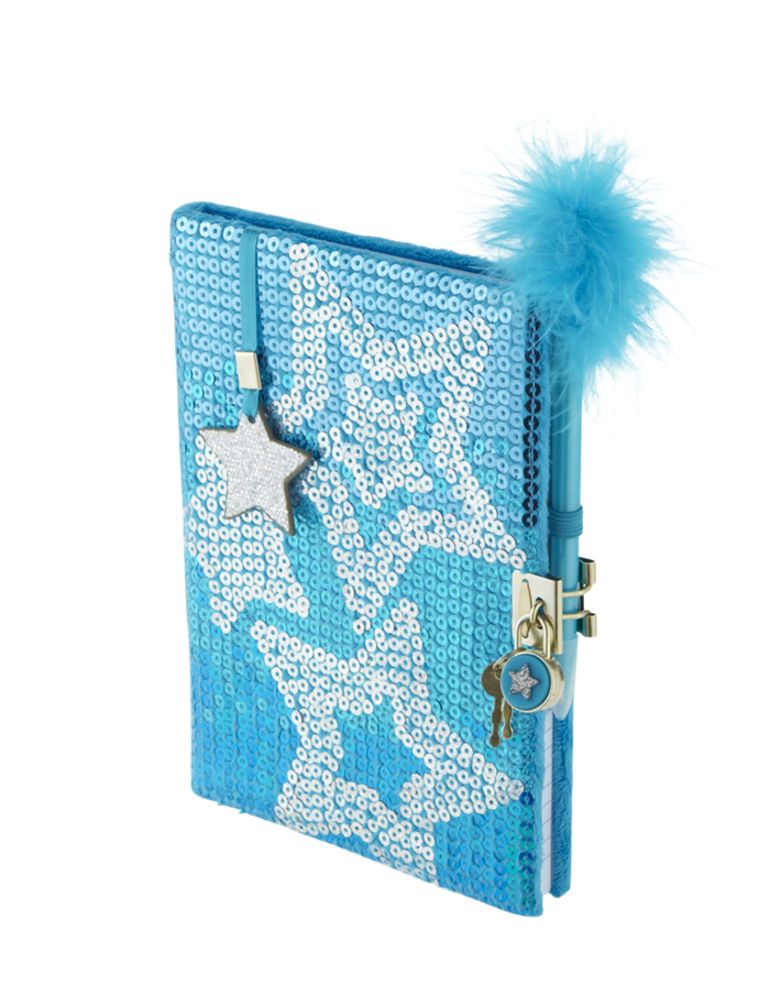 Sequin Star Diary Journals Writing Beauty Room Tech