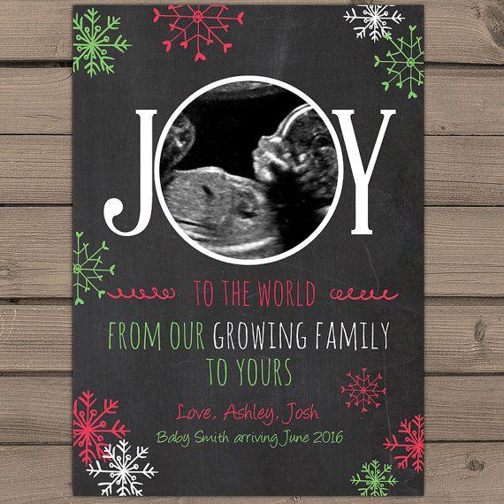 christmas pregnancy announcement card van anietillustration op etsy
