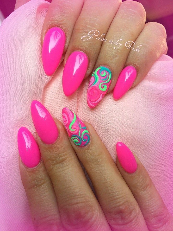 These Pink Nail Swirls Are Adorable Follow Us For More Nail Art Her
