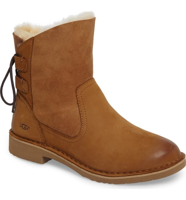 08afb71e34 WOMENS UGG AUSTRALIA Boots Uggs Naiyah Genuine Shearling Lace Chestnut Boot  8.5  UGGAustralia  SnowWinterBoots